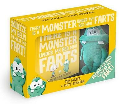 NEW There Is a Monster Under My Bed Who Farts Book and Toy Set By Tim Miller