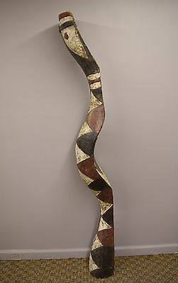 "Guinea West Africa Baga Snake Serpent Initiation Mask 69"" Tall"