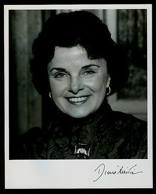 """Sen. Dianne Feinstein of CA - 8""""x10"""" AUTOGRAPHED Glossy Photo - Black finepoint"""