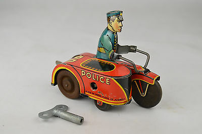 """Marx PD Motorcycle Clockwork 3 5/8"""" Long USA Excellent"""