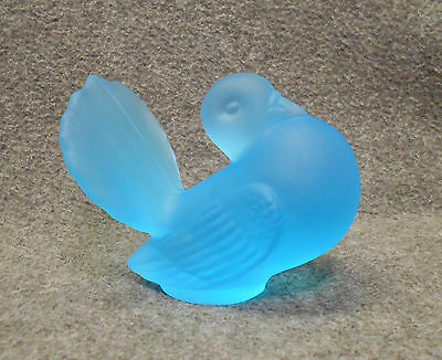 Blue Frosted Solid Glass Fancy Pigeon Figure - Not a Turkey - Free Shipping