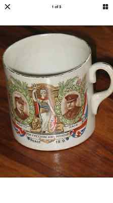 Souvenir of Great War - Peace Mug 1919 by Winton/Grimwades Beatty/Haig