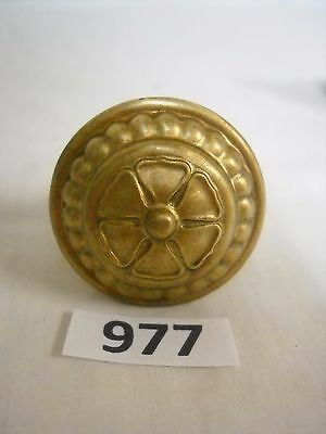 Antique Clark Spool Or Thread Cabinet Brass Knob Pull