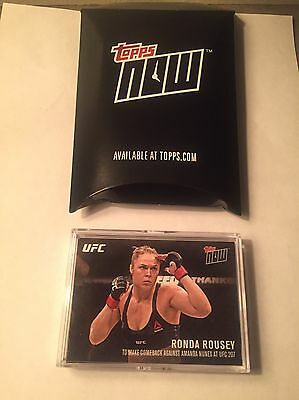 2016 Topps UFC Now RONDA ROUSEY Announces Return - ONLY 331 MADE!!!