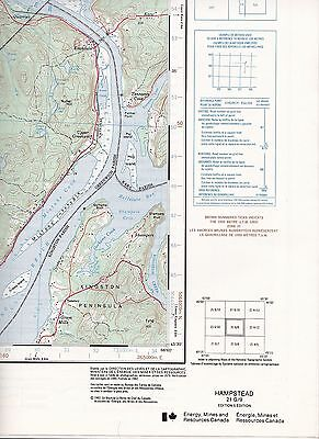 Hampstead 21 G/9 CFB Gagetown N.B. Map National Topographic System Maps Canada