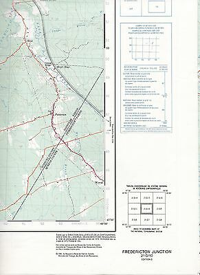 Fredericton Junction 21 G/10 Oromocto R. National Topographic System Maps Canada