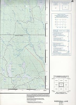 McDougal Lake 21 G/7 National Topographic System Maps Canada Magaguadavic River
