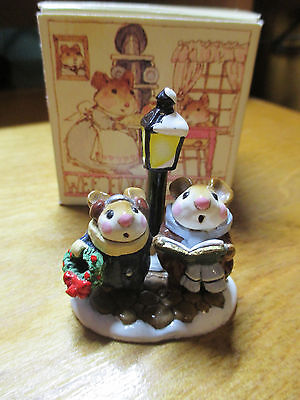Wee Forest Folk (WFF) Lamplight Carolers M086 with Box
