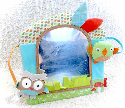 Skip Hop Treetop Friends Owl Activity Mirror Stand Alone Or Take Along Plush HTF