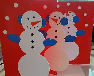 New Box 8 MoMA Museum of Modern Art Snowman Christmas Xmas Holiday Cards