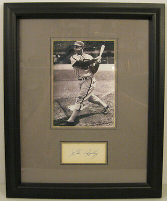 Luke Appling Autograph and Photo Framed Chicago White Sox HOF Index Card