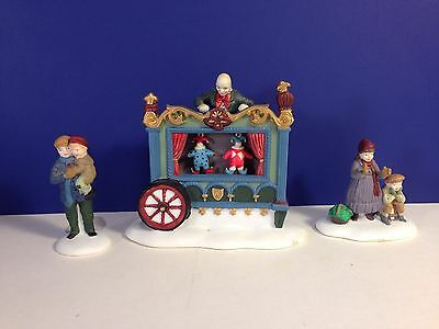 Dept 56 Dickens Village THE OLD PUPPETEER Set of 3 w/ box Combine Shipping!
