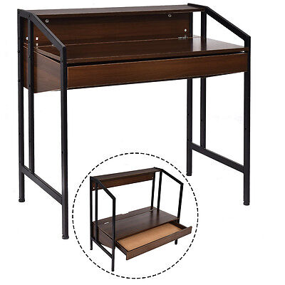 Computer Desk Laptop Table Workstation Study Adjustable Top Height Home Office