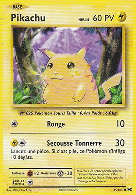 EVOLUTIONS HOLO MOSAIQUE N°  35/108 PIKACHU XY12 POKEMON