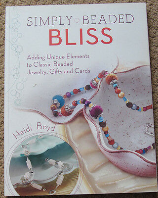 2  Beading books,Simply Beaded Bliss / Spellbinding Bead Jewellery=130 projects
