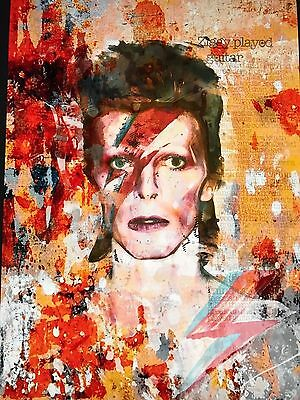 RARE David Bowie Art A3 FRAMED Print - Limited Edition