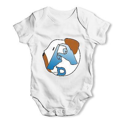 Twisted Envy Sign Language Letter D Baby Unisex Funny Baby Grow Bodysuit