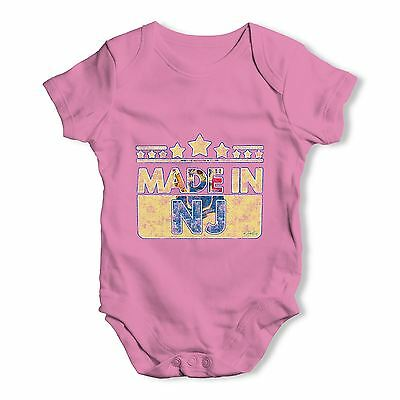 Twisted Envy Made In NJ New Jersey Baby Unisex Funny Baby Grow Bodysuit