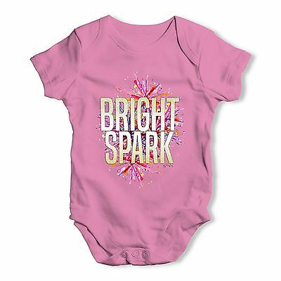 Twisted Envy Bright Spark Baby Unisex Funny Baby Grow Bodysuit