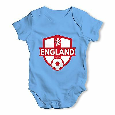 Twisted Envy England Badge Baby Unisex Funny Baby Grow Bodysuit