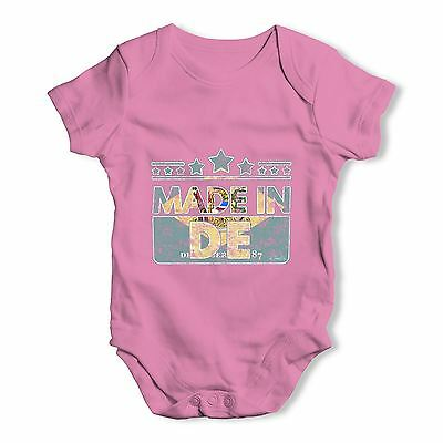 Twisted Envy Made In DE Delaware Baby Unisex Funny Baby Grow Bodysuit