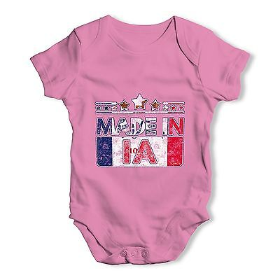Twisted Envy Made In IA Iowa Baby Unisex Funny Baby Grow Bodysuit
