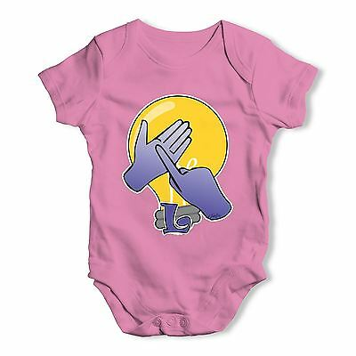 Twisted Envy Sign Language Letter L Baby Unisex Funny Baby Grow Bodysuit