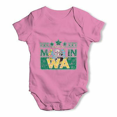 Twisted Envy Made In WA Washington Baby Unisex Funny Baby Grow Bodysuit