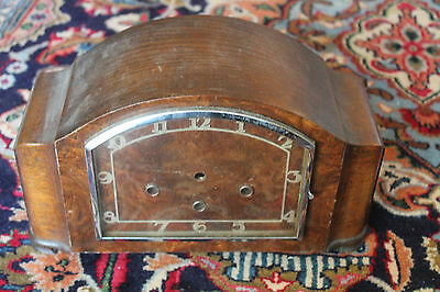 Antique Wooden Mahogany Clock Body Casing 29cm