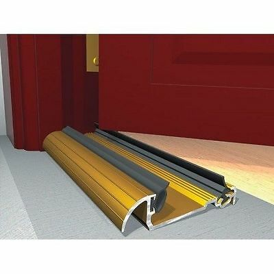 THRESHOLD DOOR DRAUGHT EXCLUDER Metal Cill Sill  Gold  914 mm 36""