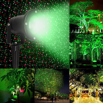 Waterproof R&G Outdoor Garden Landscape Projector Moving Laser Xmas Stage Light