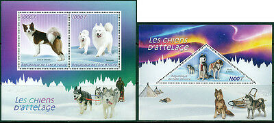 Sledge Dogs Husky Arctic Fauna Ivory Coast MNH stamp set