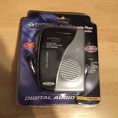 Vintage Daewoo WM-085 Personal Cassette Player New Sealed