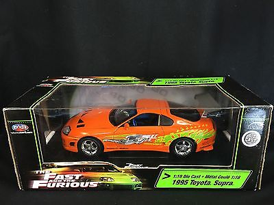 Fast and Furious Diecast Model  RC Ertl Toyota Supra 1995 1 18 Scale Boxed