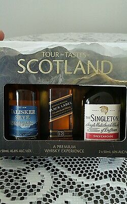 Tour The Tastes Of Scotland Mini Whiskey 3 Pack!!