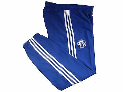 adidas Chelsea FC men's blue football presentation performance pants 2015-16 S
