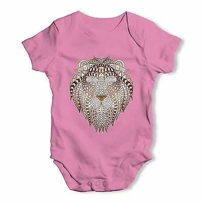 Twisted Envy Tribal Lion Head Baby Unisex Funny Baby Grow Bodysuit