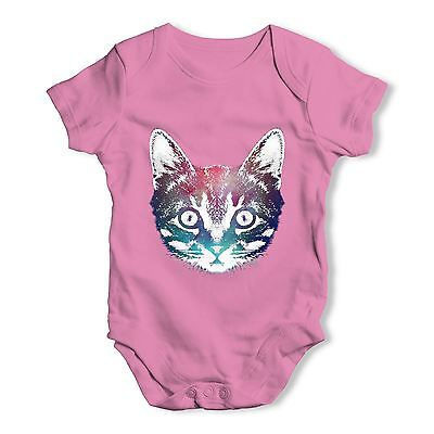 Twisted Envy Jinks Galactic Cat Face Baby Unisex Funny Baby Grow Bodysuit