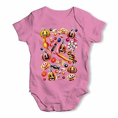 Twisted Envy Trick Or Treat Candy Baby Unisex Funny Baby Grow Bodysuit