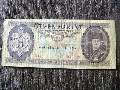 50 Forunt banknote free shipping Hungary