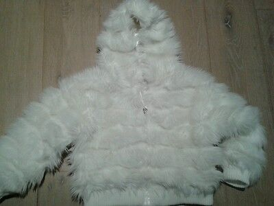 Monsoon Faux Fur Cream Jacket Age 6-8 years. Stunning