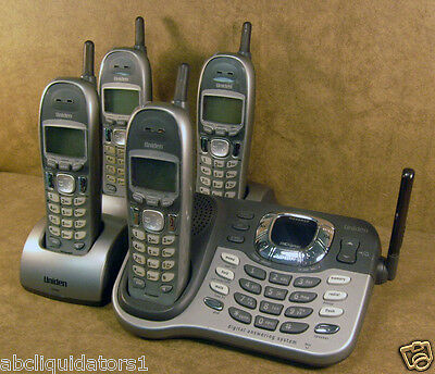 Uniden DCT7585-4 Cordless Phone with 4 Handsets, Answering, Speakerphone - USED