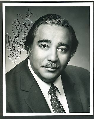 """Rep. Charles Rangel of NY - 8""""x10"""" AUTOGRAPHED Glossy Photo - w/ LETTERHEAD ltr."""