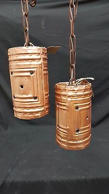 Architectural Salvage Art Deco Ceiling Light Fixtures Set of 2
