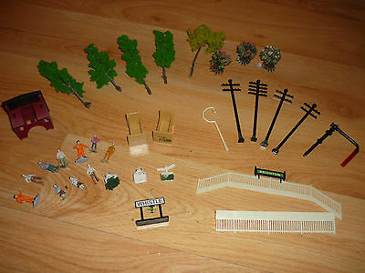 Collection of 33 Scenery Items For 00 Gauge Hornby Sets