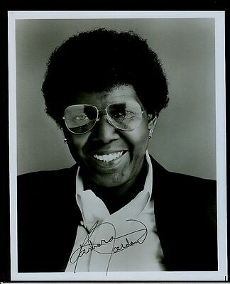 "Rep. Barbara Jordan of TX - 8""x10"" AUTOGRAPHED Glossy Photo - w/ LETTERHEAD ltr"