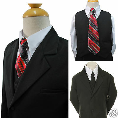 Boys Baby Toddler Teen Formal Wedding Suits Vest Sets eXtra Necktie 6PC S-20 New