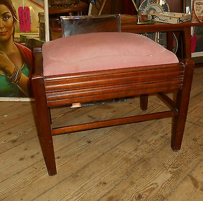 Art Deco Art Nouveau Oak Foot Stool 1920s/ 30s stylish rare