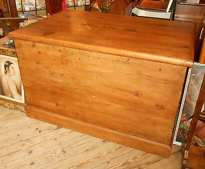 Antique Masonic Pine Chest Trunk  Loyal Wye Lodge Number 1807 Builth Wales