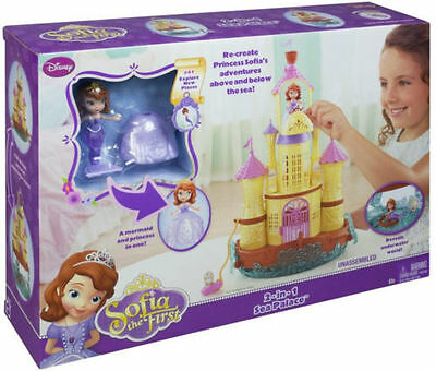 Disney Sofia the First Toy - 2-in-1 Sea Palace Figure Playset